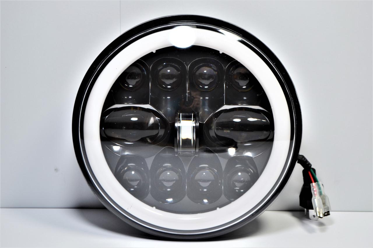 Світлодіодна LED фара 75Вт Нива, УАЗ 469, ВАЗ 2101, 2121, FJ Cruiser, мотоцикл, мото 7 дюйм