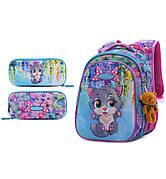 Набор школьный для девочки рюкзак SkyName R1-012 + пенал