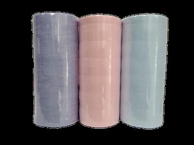 Серветки спанлейс 20 см х 20 см (100 шт. рулон, гладкі кольорові)