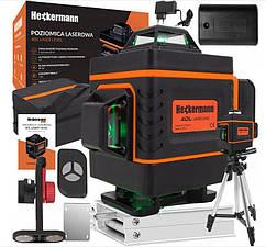 Лазерный уровень нивелир Heckermann 4D 16 Line Poland c пультом ДУ