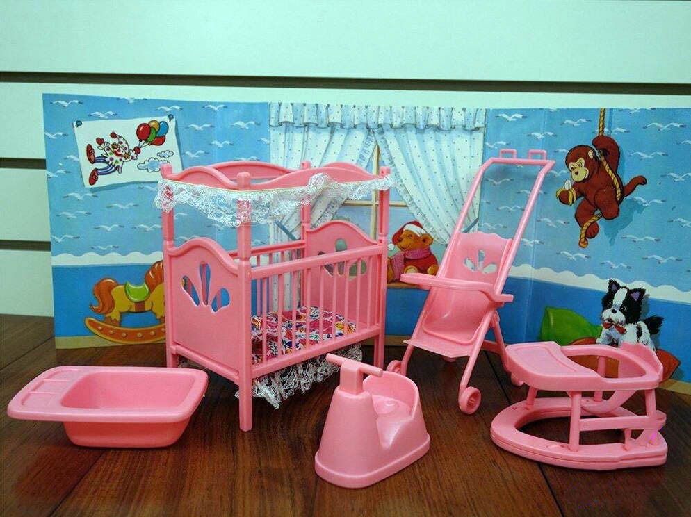 Кукольная красивая Мебель «Детская комната»