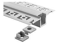 Алюмінієвий анодований профіль для світлодіодної стрічки для гіпсокартона під штукатурку 2 метра АЛ-21-4