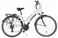Велосипед жіночий міський Sprick 28 алюмінієвий 24 передачі white з кошиком Польща