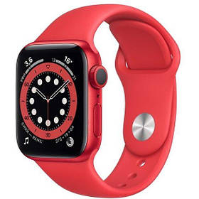 Apple Watch Series 6 44mm GPS Red Aluminum Case with (PRODUCT)RED Sport Band (M00M3) UA