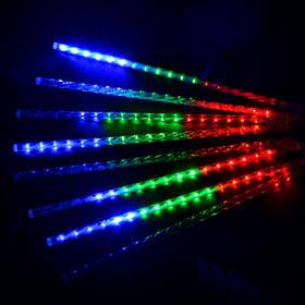Гирлянда Тающие сосульки LED 50см 8шт, разноцветные