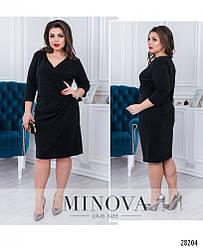 Изящное черное платье по фигуре большого размера. размер: 50, 52, 54, 56