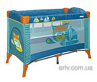 Детский игравой манеж большой прямоугольный BERTONI ARENA 2 LAYER CAT AQUAMARINE игровые манежи для детей