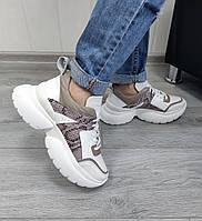 Комбинированные кроссовки на платформе, фото 1