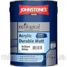 Фарба акрилова водоемульсійна Johnstone's Acrylic Durable Matt мат білий 10 л