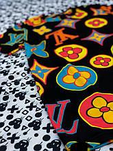 Футболка LV чорного кольору з буквами вільна молодіжна молодіжні футболки