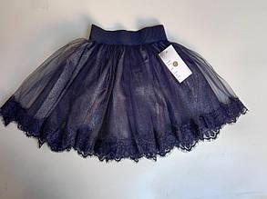 Школьная юбка для девочки р. 122-140 т.синяя
