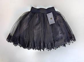 Школьная юбка для девочки р. 122-140 черная