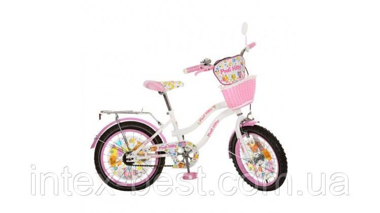 Детский двухколесный велосипед,20 дюймов (арт.PK2064G) Kitty, бело-розовый
