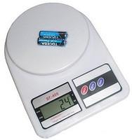 Электронные кухонные весы SF 400 Спартак до 7кг белые с батарейками