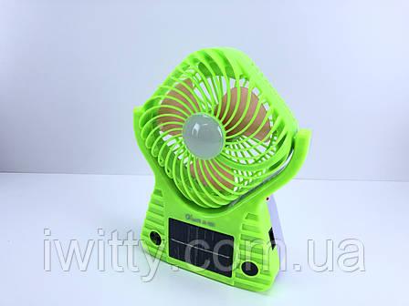 Регулюється вентилятор на сонячній батареї / 220В зелений, фото 2