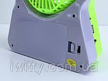 Регулюється вентилятор на сонячній батареї / 220В зелений, фото 3