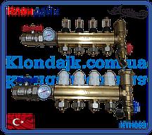 Коллектор теплого пола для низкотемпературных систем на 3 контура