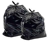 Мешки полиэтиленовые для строительного мусора черные экономные 55 мкм
