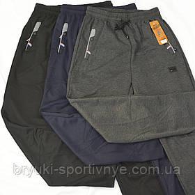 Брюки спортивные трикотажные с молниями на карманах XL – 5XL Ao longcom (Черный)
