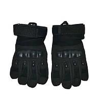 Тактические перчатки черные Oakley с пальцами