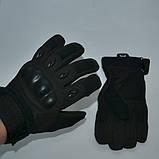 Тактические перчатки черные Oakley с пальцами , фото 2