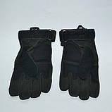 Тактические перчатки черные Oakley с пальцами , фото 3