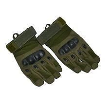 Тактические перчатки  олива Oakley с пальцами