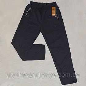 Брюки спортивные трикотажные с молниями на карманах XL – 5XL Ao longcom Синий