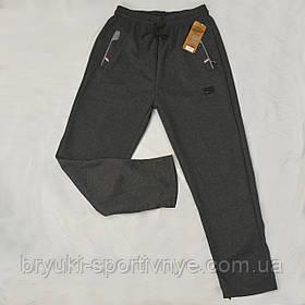 Брюки спортивные трикотажные с молниями на карманах XL – 5XL Ao longcom Темно-серый