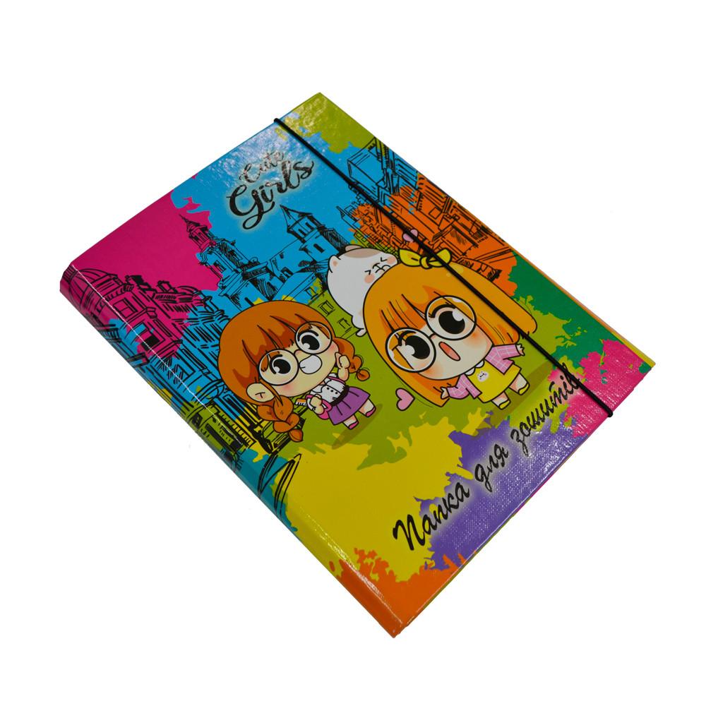 Папка-короб для зошитів на резинці, В5, Cute