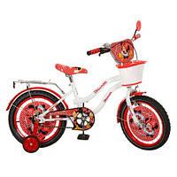 Детский двухколесный велосипед,16 дюймов (арт MI167) Минни Маус, бело-красный