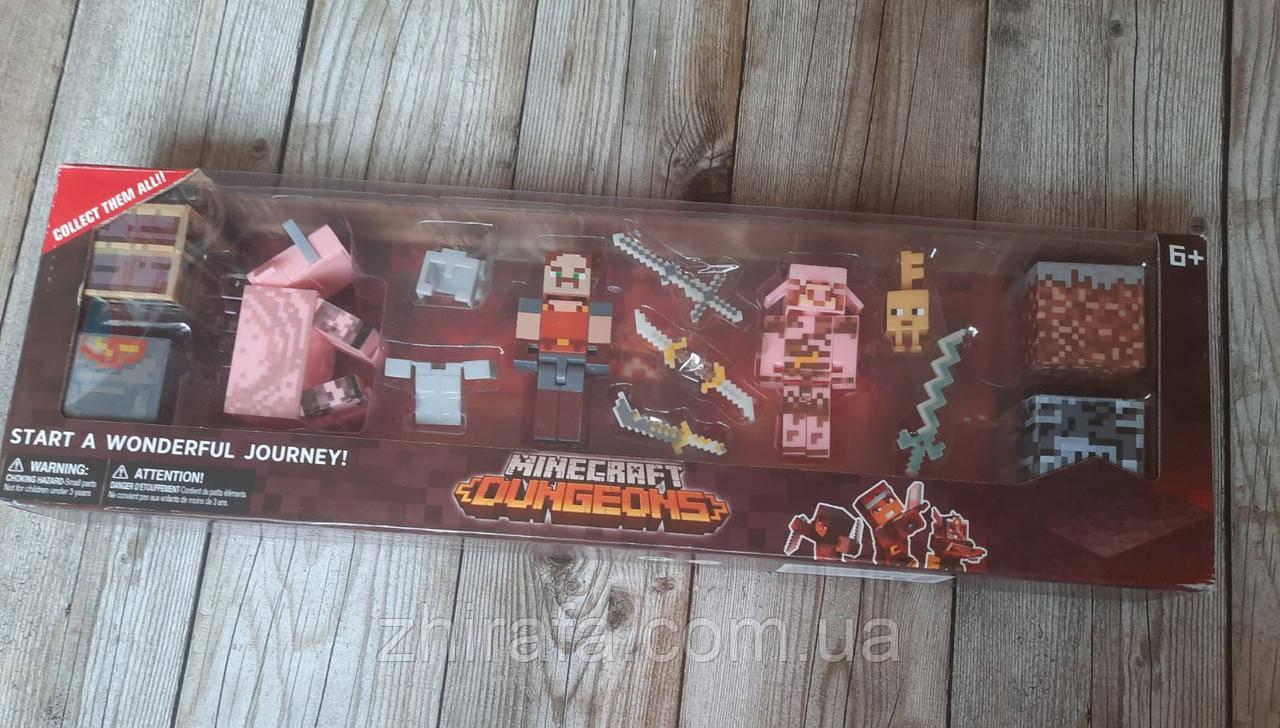 Набір героїв Майнкрафт Фігурки Minecraft Dungeons