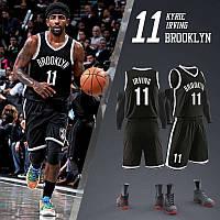 Баскетбольний чорна форма Кайра Ірвінг Бруклін Нетс Kyrie Irving №11 Brooklyn Nets
