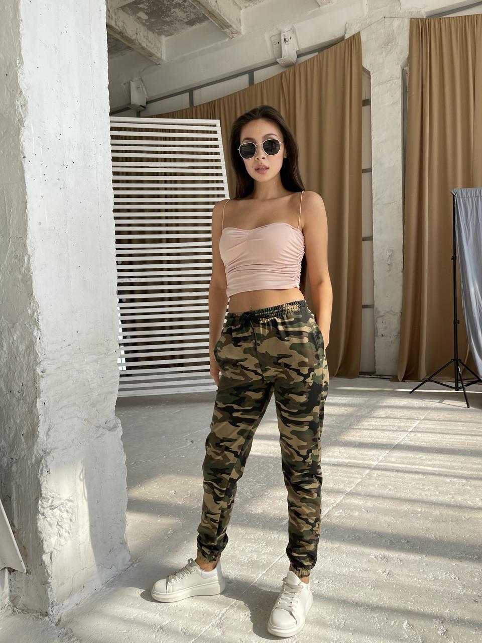 Жіночі спортивні штани камуфляж