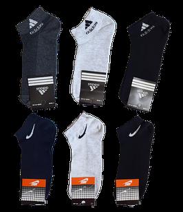 Носки мужские спорт укороченные вставка сеточка хлопок стрейч р.40-44.От 6 пар по 7,50грн.
