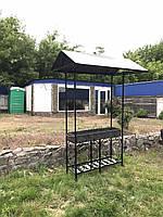 Мангал на 12 шампуров с крышей, 4 мм