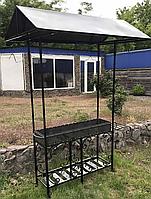 Мангал с крышей, 4 мм, на 20 шампуров