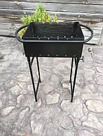Мангал на 6 шампуров 3 мм. 14 кг,  со съемными ножками