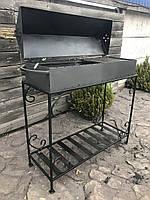 Мангал барбекю на 15 шампуров 3 мм. 45 кг, на дровнице