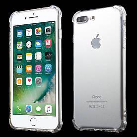 Чехол для iPhone 7 Plus силиконовый с усиленными углами, Прозрачный