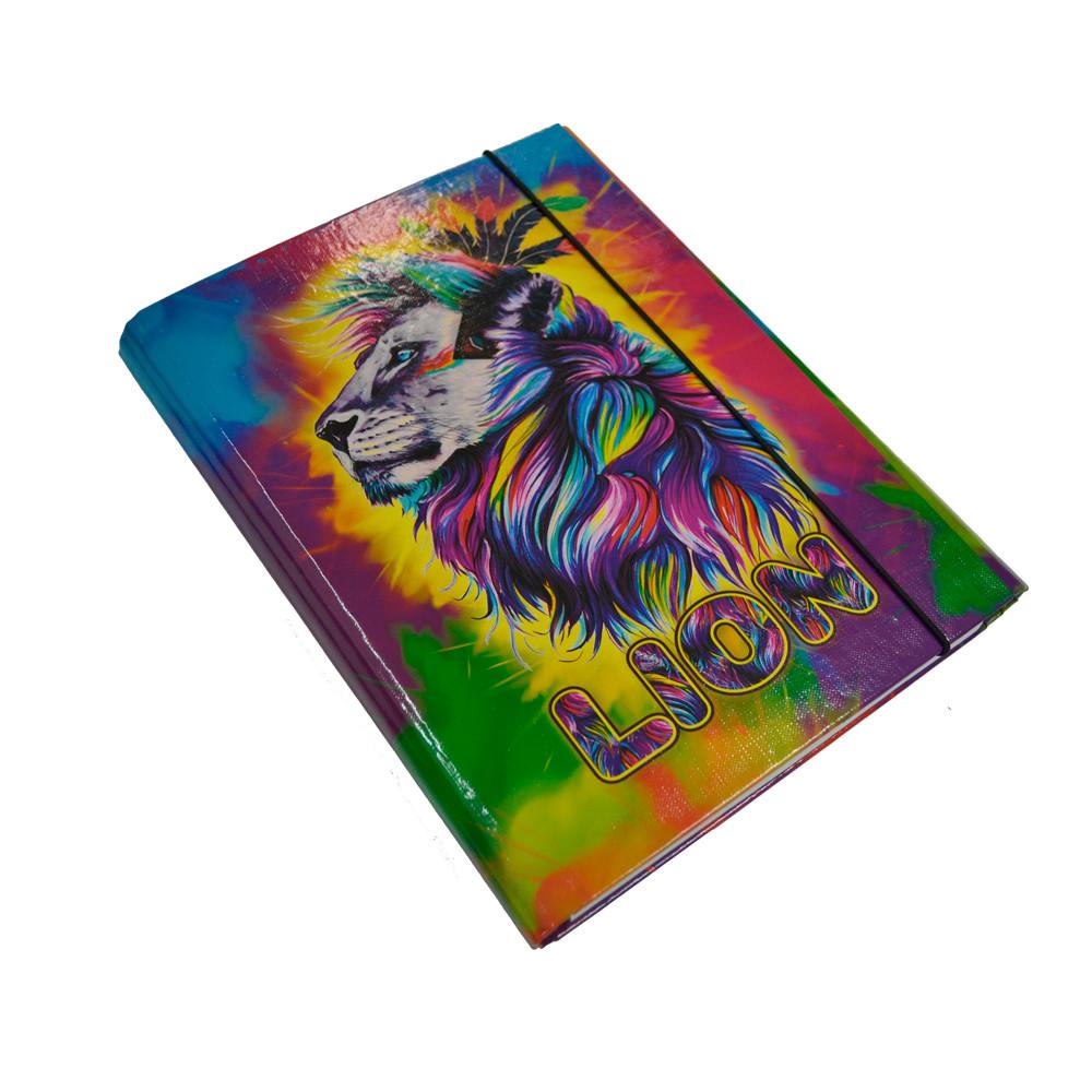 Папка-короб для зошитів на резинці, В5, Lion