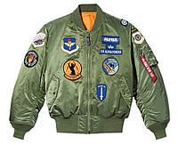 Розпродаж! Оригінал! Alpha Ma-1 Squadron Bomber Jacket - MJM50503C1 sage, фото 1