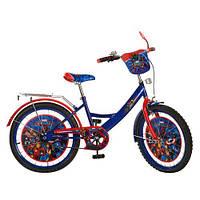 Детский двухколесный велосипед,20 дюймов (арт.MH202) Герои, сине-красный