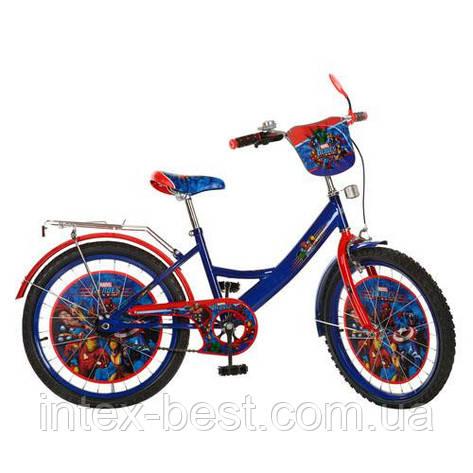 Детский двухколесный велосипед,20 дюймов (арт.MH202) Герои, сине-красный, фото 2