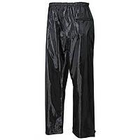Дождевые брюки чёрные, полиэстер с ПВХ MFH