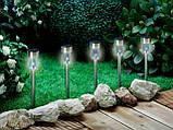 Комплект садовый фонариков на солнечной батарее 5 шт, высота 37 см (в грунт, для использовании на улице), фото 3