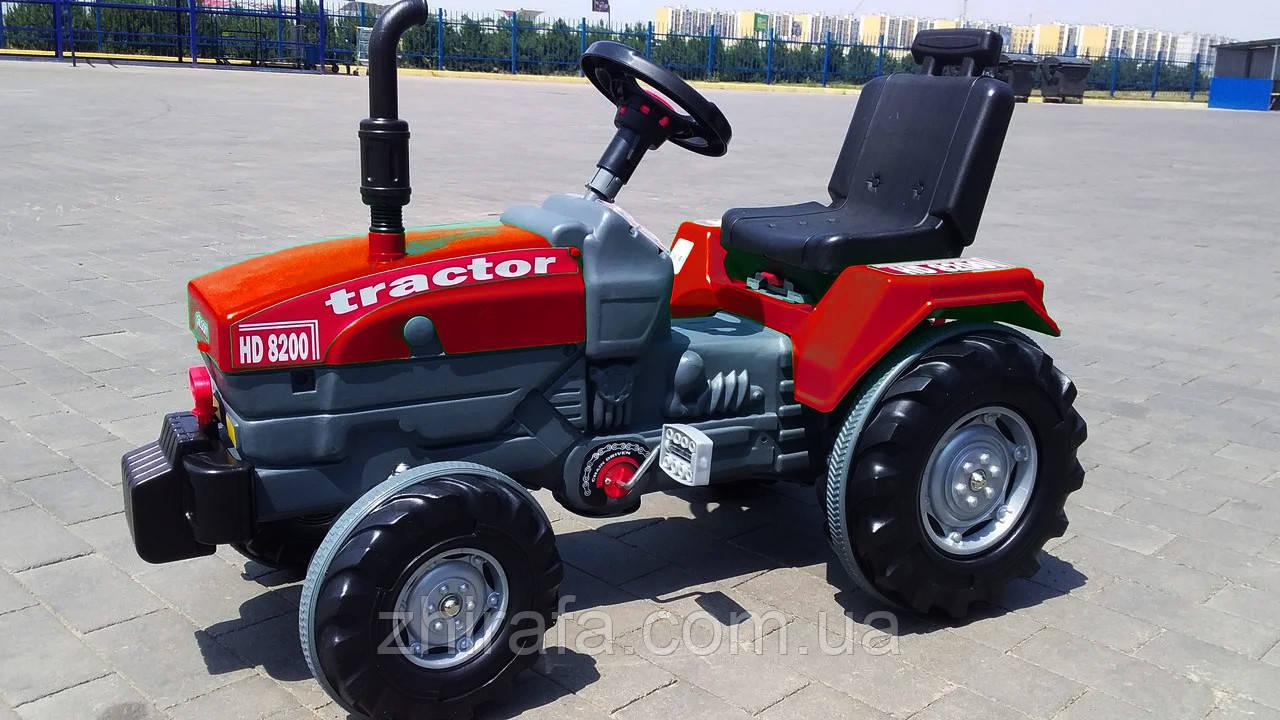 Большой педальный трактор Веломобиль Пилсан Active Traktor