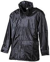 Дождевая куртка чёрная, полиэстер с ПВХ MFH