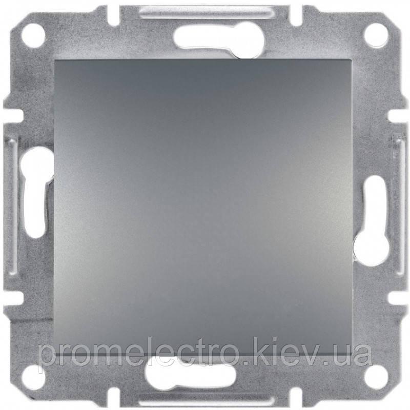 Перемикач Schneider-Electric Asfora Plus 1-клавішний перехресний сталь (EPH0500162)