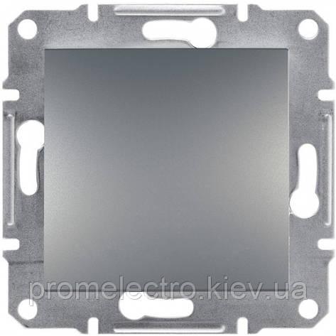 Перемикач Schneider-Electric Asfora Plus 1-клавішний перехресний сталь (EPH0500162), фото 2